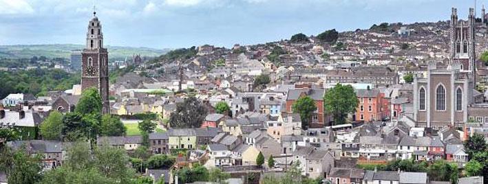 Blick auf Cork