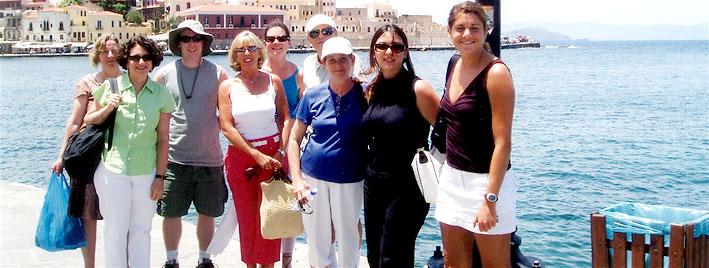 Schüler auf Kreta bei einem Ausflug