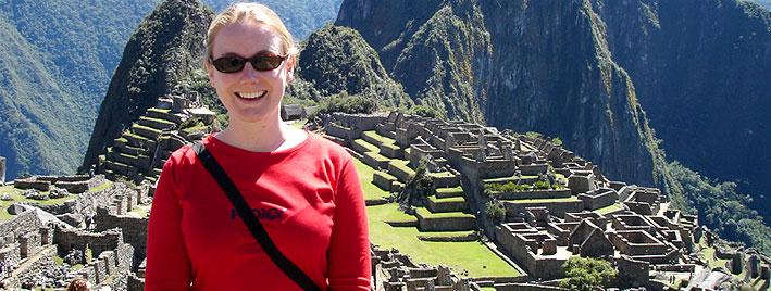 Liz in Machu Picchu