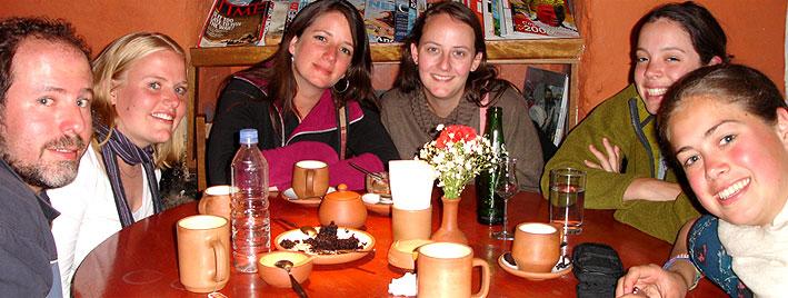 Kaffeepause in Cusco