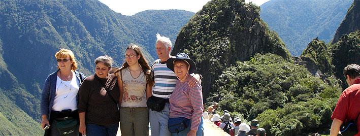 Sprachschüler aus Cusco in Machu Picchu