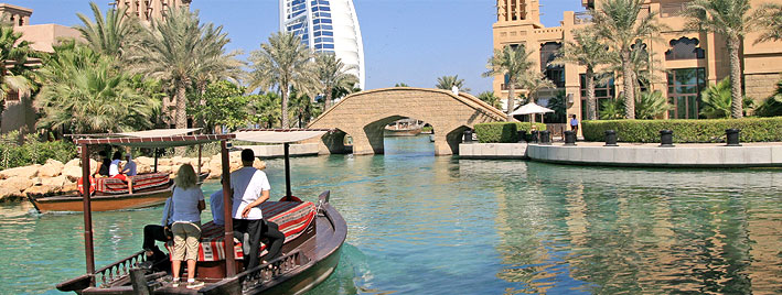 Wasserstraße in Dubai