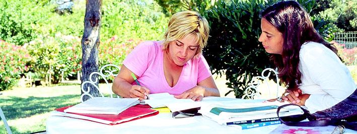 Italienischunterricht im Freien auf Elba