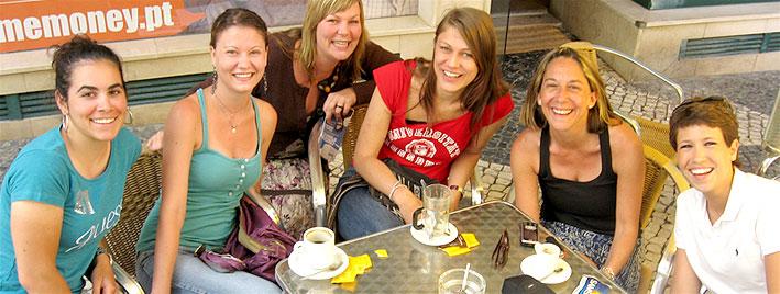Kaffeepause in Faro