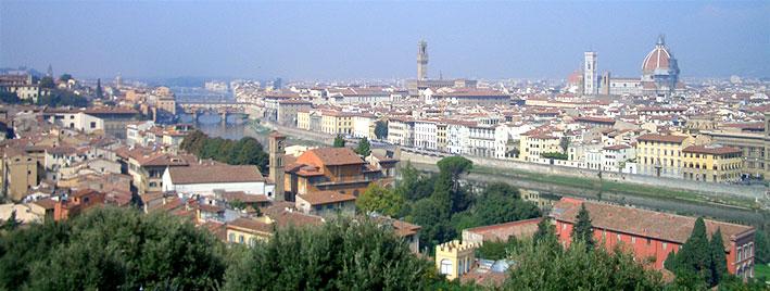 Blick auf Florenz und den Ponte Vecchio