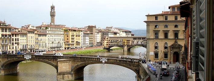 Blick vom Schulfenster aus, Florenz, Ponte Vecchio