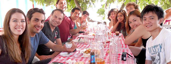 Spanische Mahlzeit in Granada