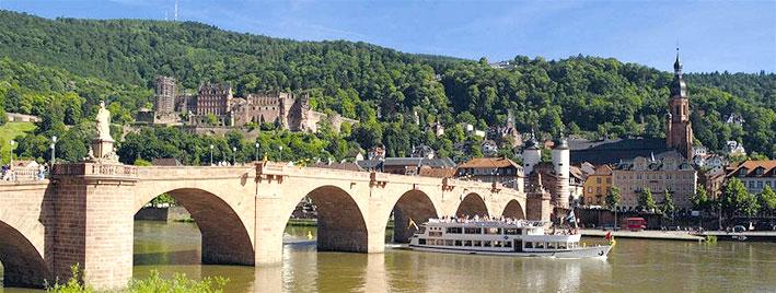 Alte Brücke und Schloss in Heidelberg