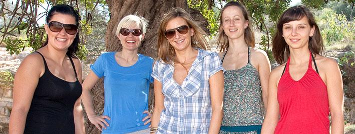 Sprachschüler in der Sonne Ibizas