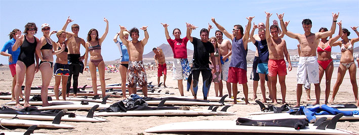 Surfunterricht auf Lanzarote