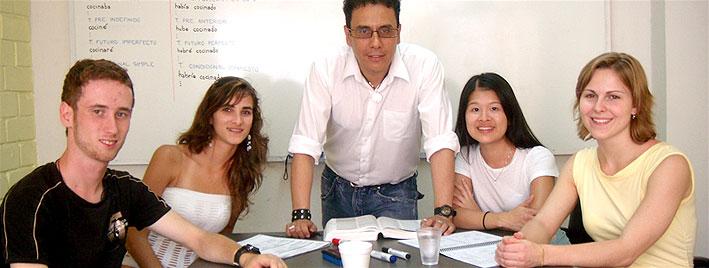 Spanischklasse in Lima