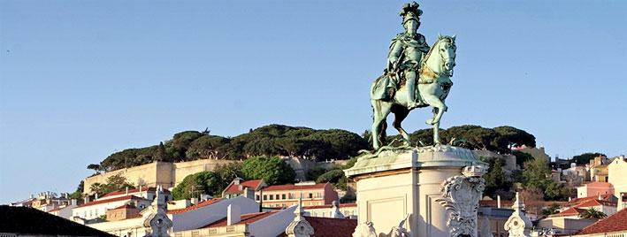 Blick vom Platz des Handles, Lissabon