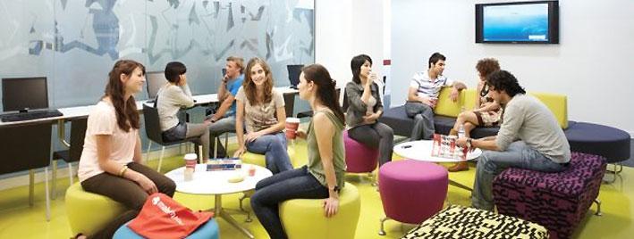 Schülerlounge, Englischschule in London
