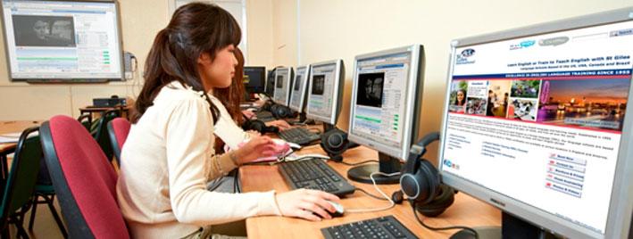 Computerraum an Londonder Schule