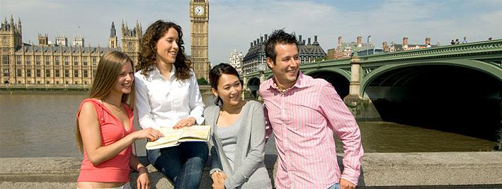 Sprachschüler erkunden London