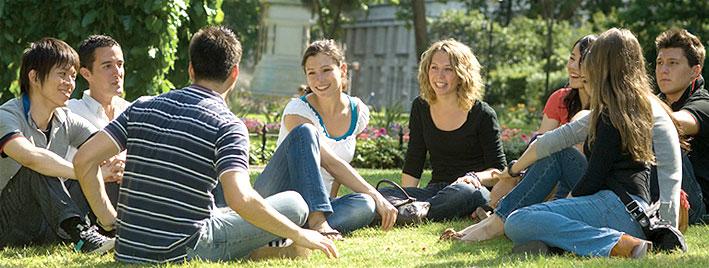 Englisch üben in einem Londoner Park
