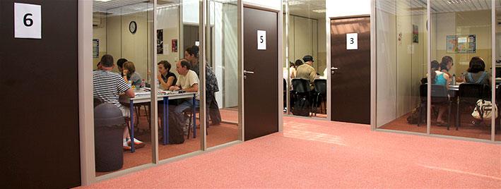 Klassenzimmer an unserer Schule in Lyon