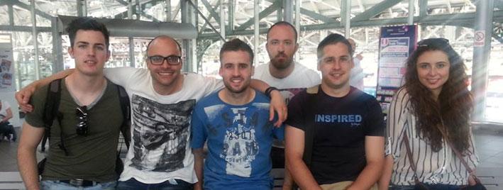 Englischschüler in Manchester
