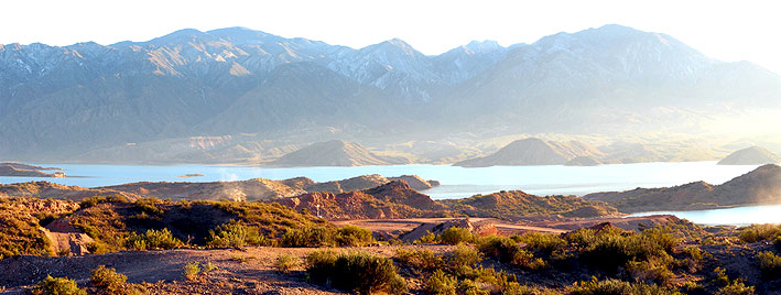 Blick auf die Berge in Mendoza