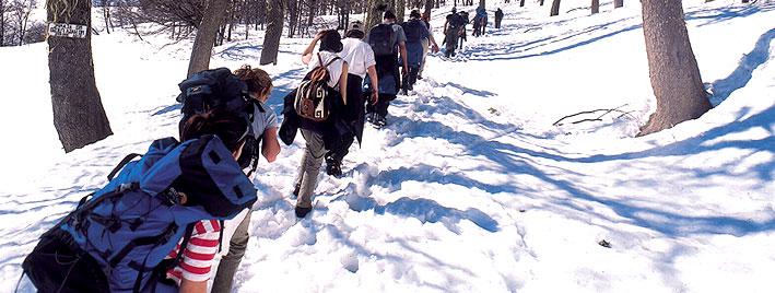 Schneewanderung in Mendoza