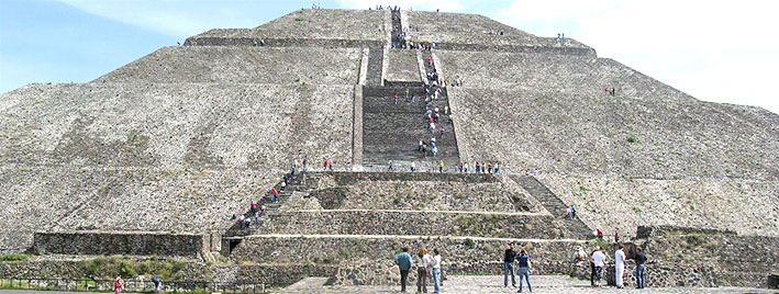 Sonnenpyramide von Teotihuacán, Mexiko