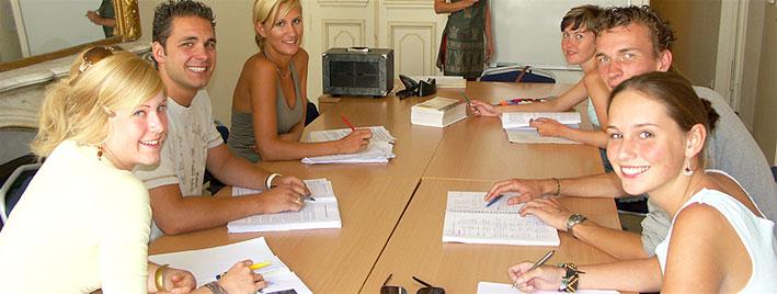 Schüler im Unterricht, Montpellier