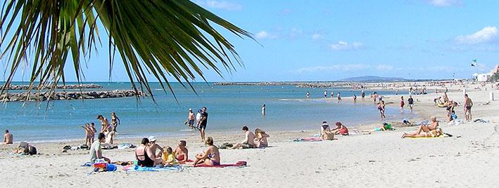 Weißer Strand, Montpellier, Frankreich