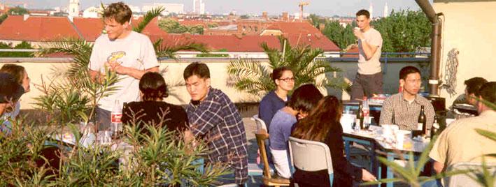 Dachterrasse, Deutschschule in München