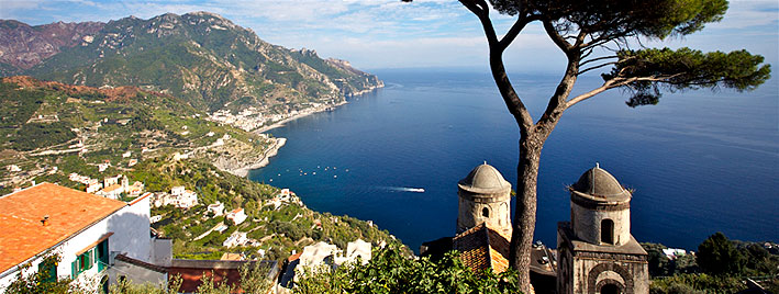 Ravello, Almalfiküste bei Neapel