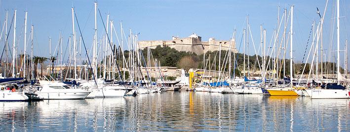 Port Lympia in Nizza, Frankreich