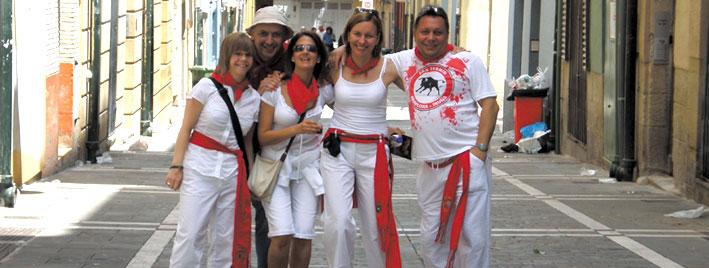 Freunde in San Fermin, Pamplona