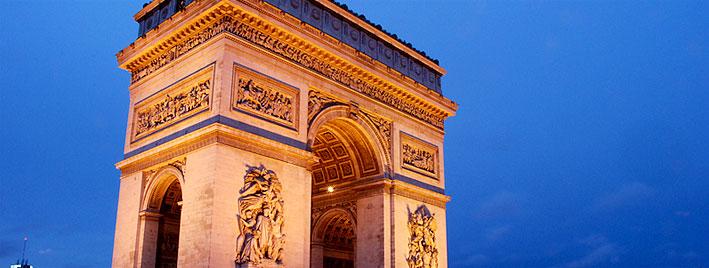 Triumphbogen bei Dämmerung, Paris