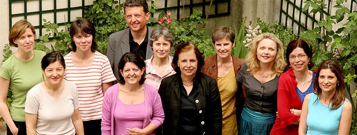 Gruppe Französischschüler in Paris