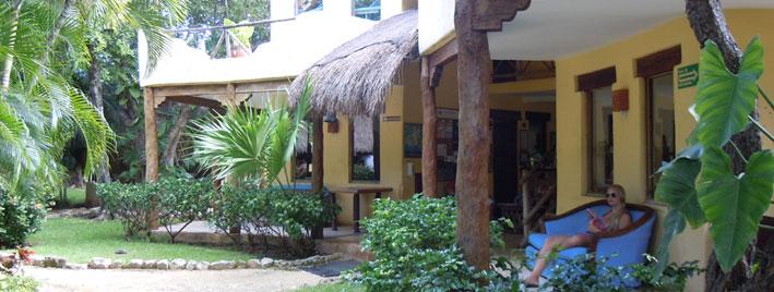 Außenbereich der Schule in Playa del Carmen