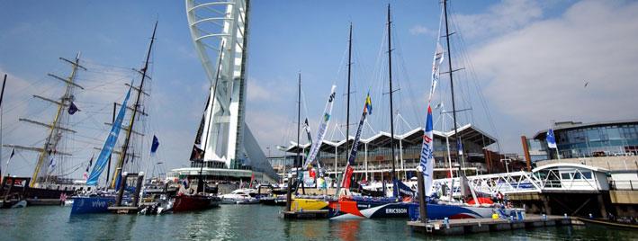 Segelboote am Hafen von Portsmouth
