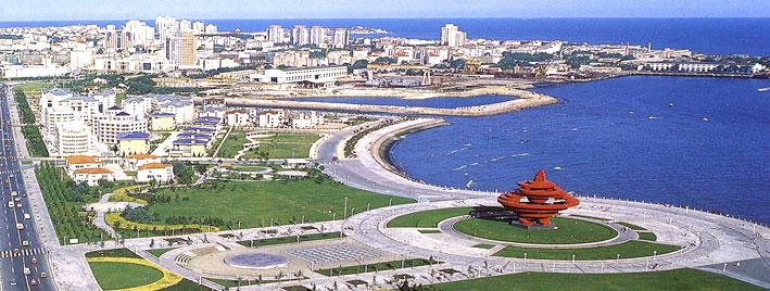 Luftbild von Qingdao, China