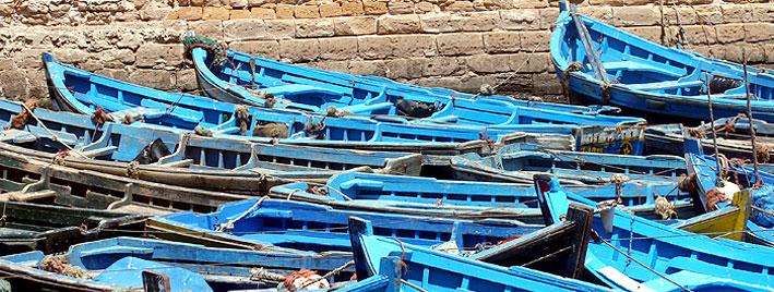 Boote in Rabat, Marokko