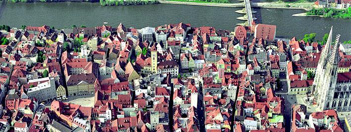 Luftbild Regensburg, Deutschland