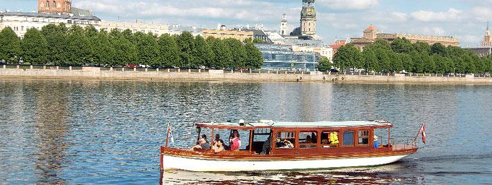 Die Düna in Riga, Lettland