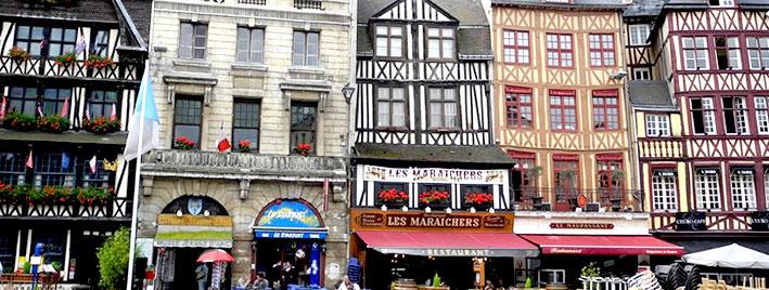 Stadtzentrum Rouen, Frankreich