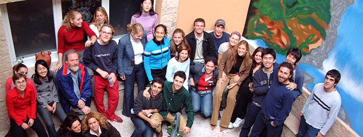 Schülergruppe an der Spanischschule in Salamanca