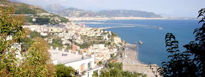 Blick auf Salerno, Italien
