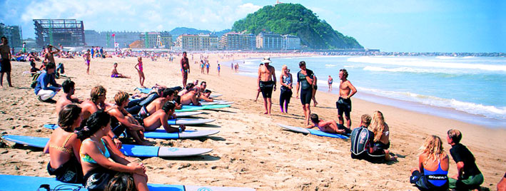 Surfen lernen in San Sebastian