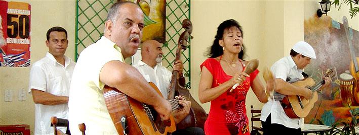 Spanische Musik in Santiago de Cuba
