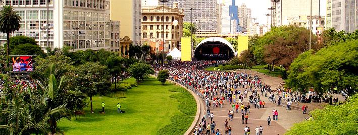 Konzert im Parque do Anhangabaú, Sao Paulo