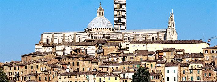 Blick auf Siena, Italien