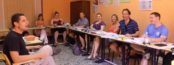 Italienischklasse in Siena