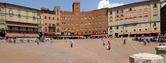 Piazza del Campo, Siena, Italien