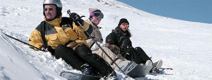 Skifahren in Annecy, Frankreich
