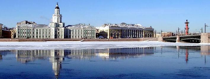 Russische Winterkulisse in Sankt Petersburg